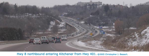 Hwy 8 northbound at Kitchener